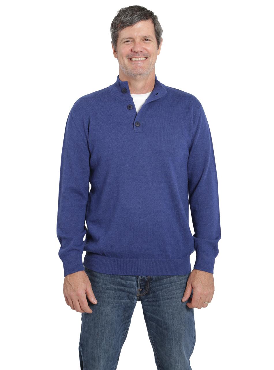 94aecd00969b Men s Hailey 3-Button Pullover Alpaca Sweater