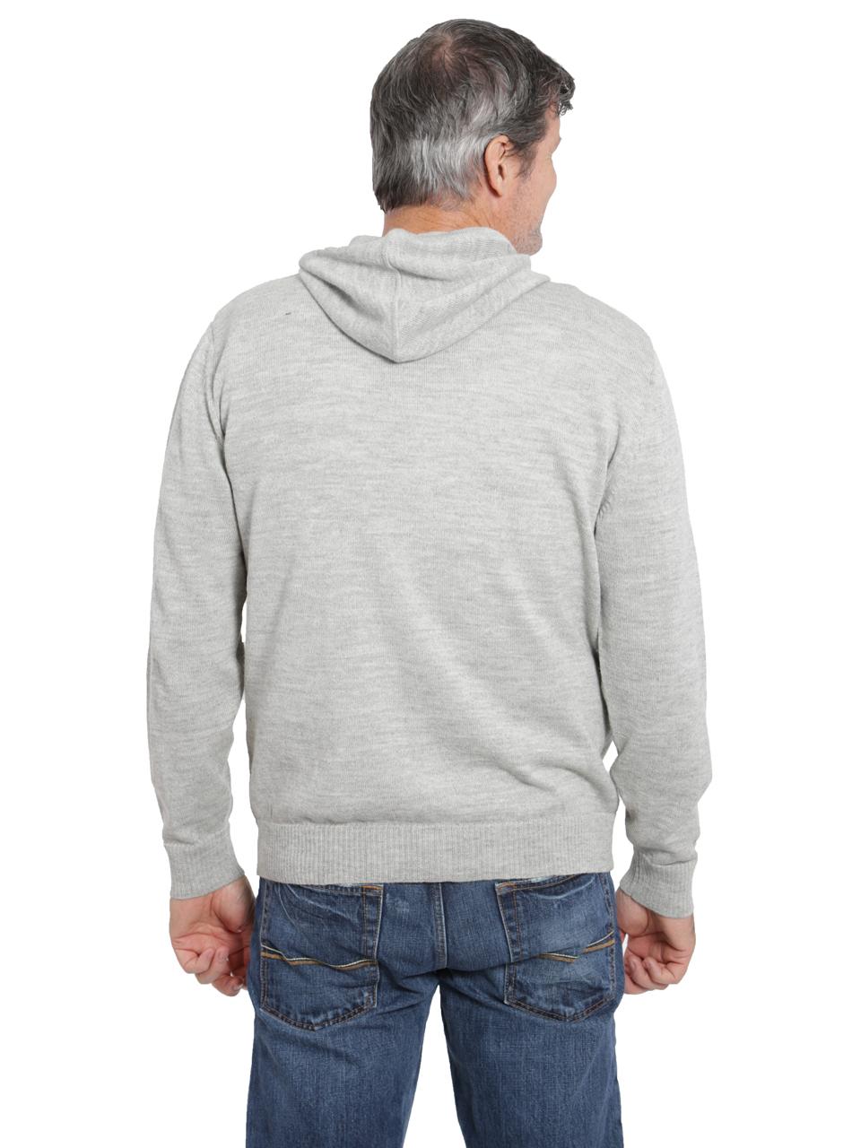Men's Zip Front Hoodie Back on Model