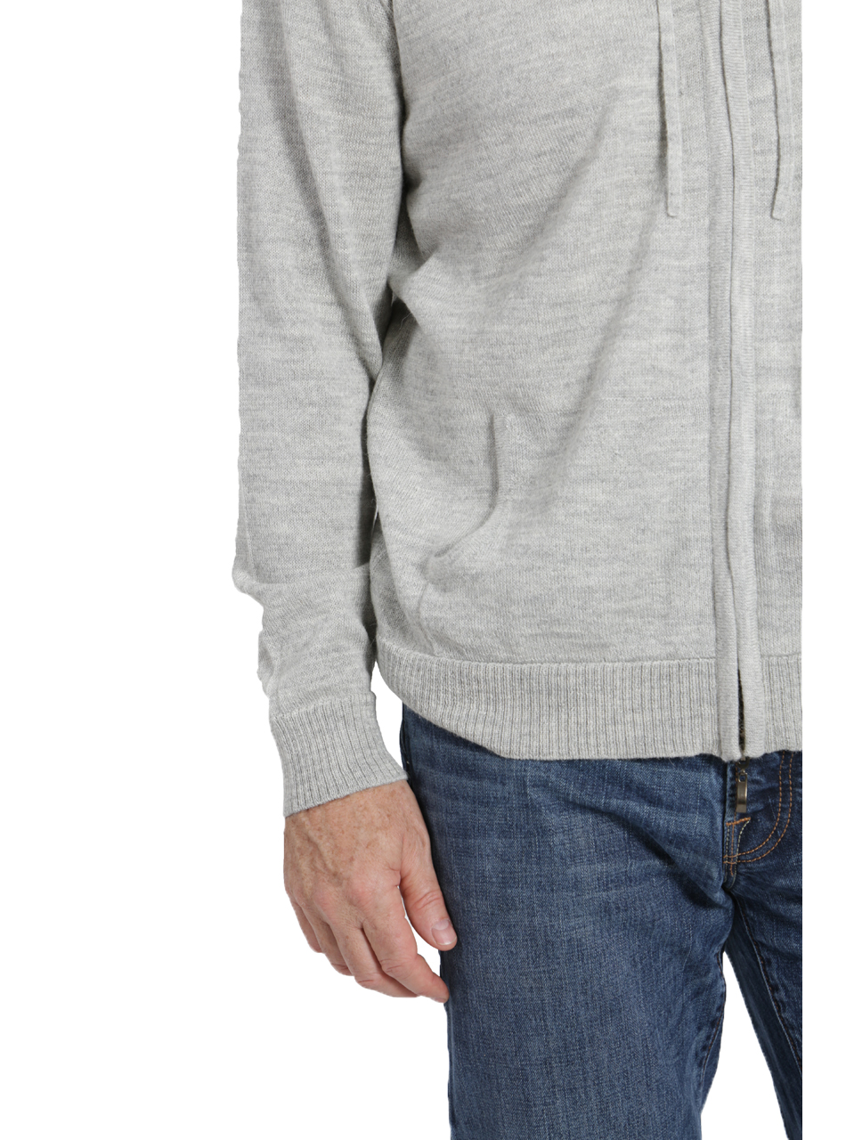 Men's Zip Front Hoodie Detail