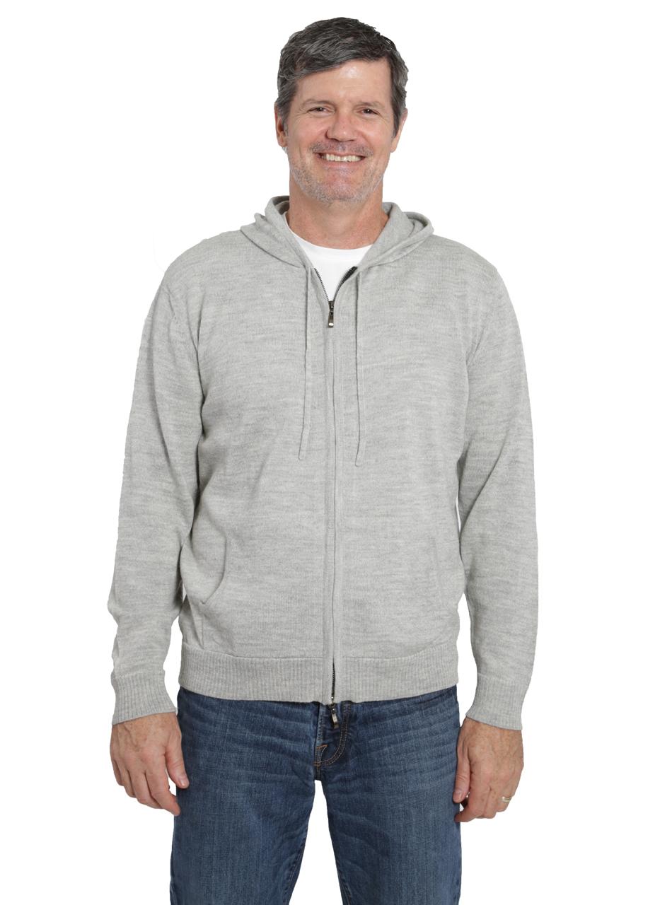 Men's Zip Front Hoodie Front on Model
