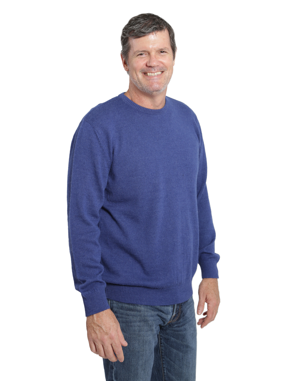 Hailey Alpaca Crew neck Pullover Men's Sweater Side