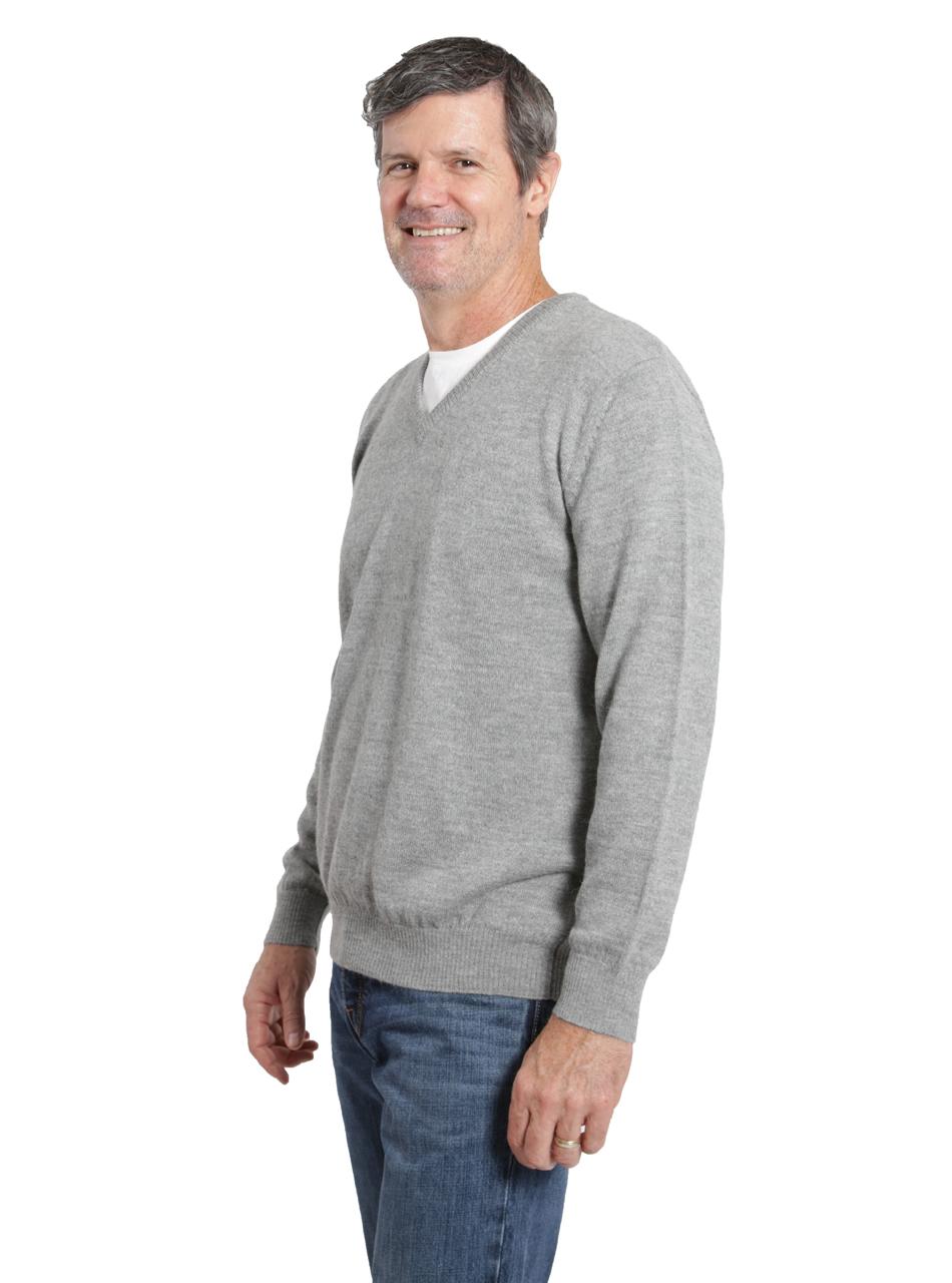 6301b9e60f8f Hailey Alpaca V-Neck Pullover Men s Sweater