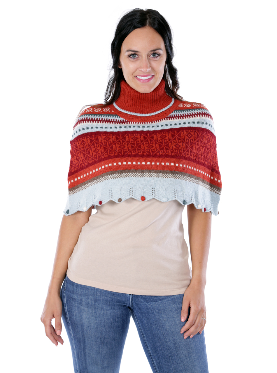 Wright Fair Isle Poncho Front