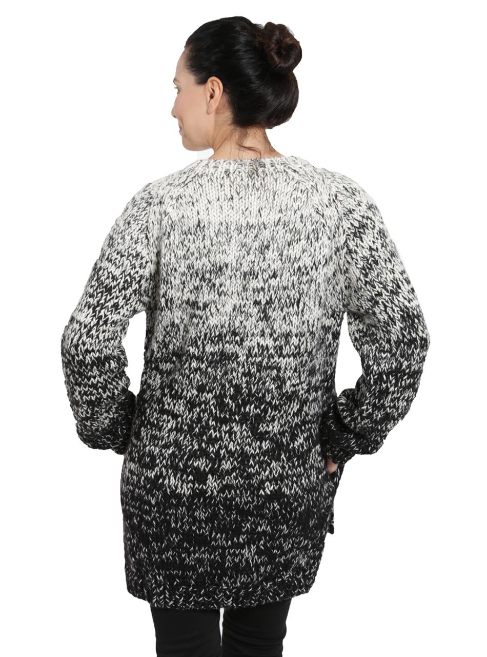 Kourtney Ombre Sweater Back on Model