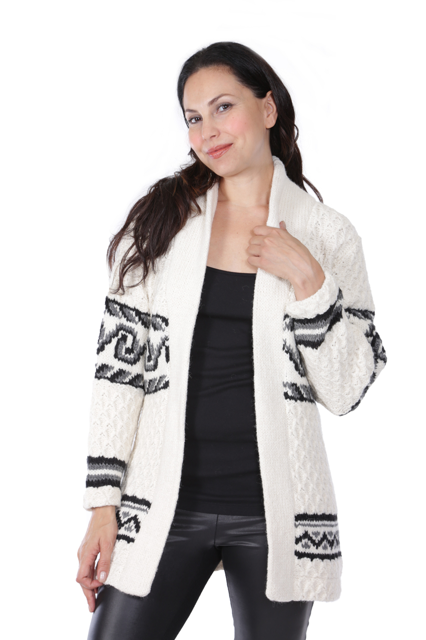 Monroe Bulky Cardigan Alternate Untied Open
