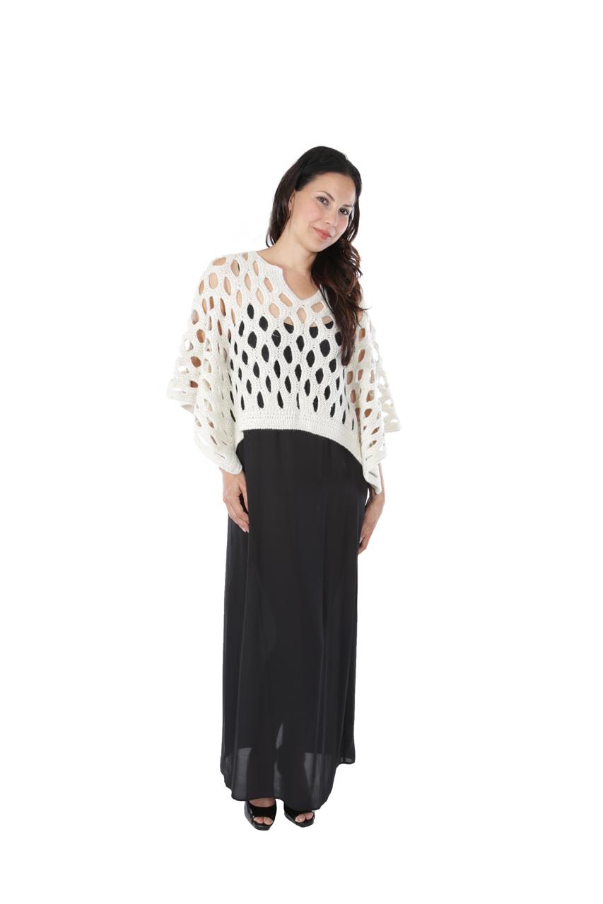 Tilda Shimmer Poncho Full Size on Model