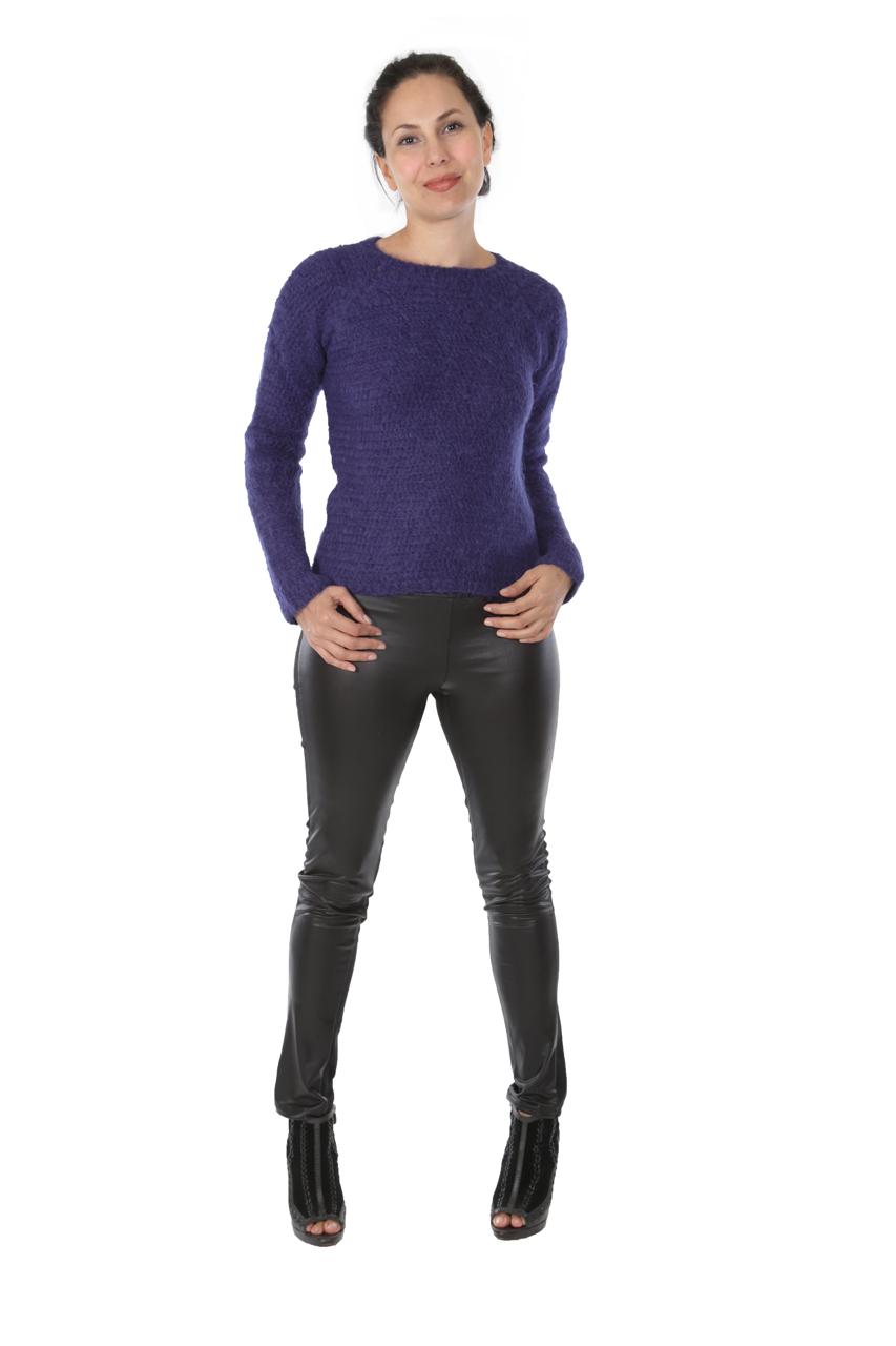 Daphne Crochet Pullover  Full Size on Model