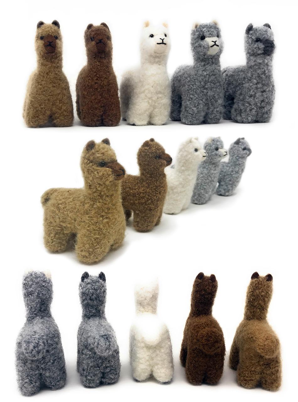 Alpaca Needle Felted Figurines