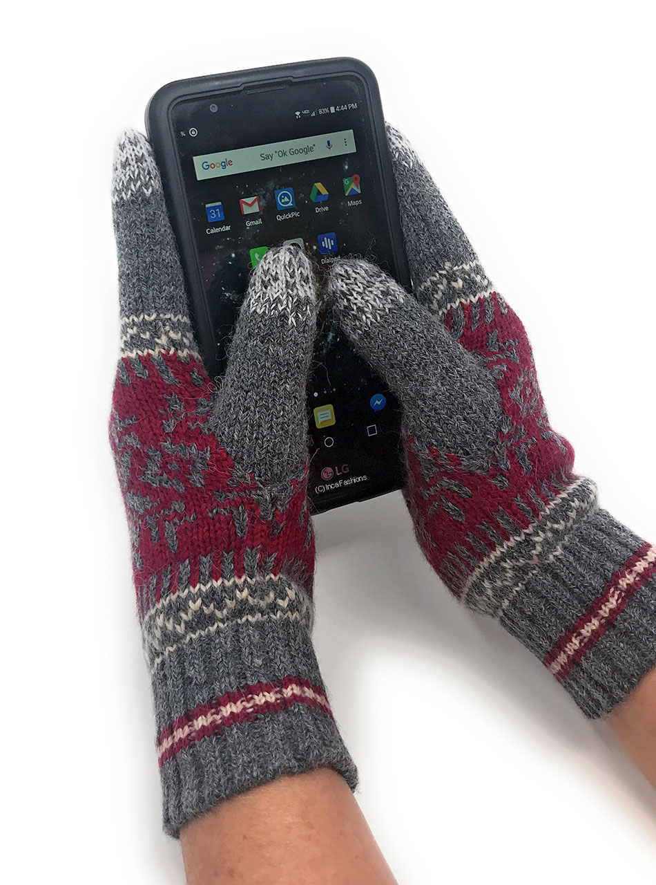 Nordic Touch Screen Gloves - Alpaca & Acrylic MAIN