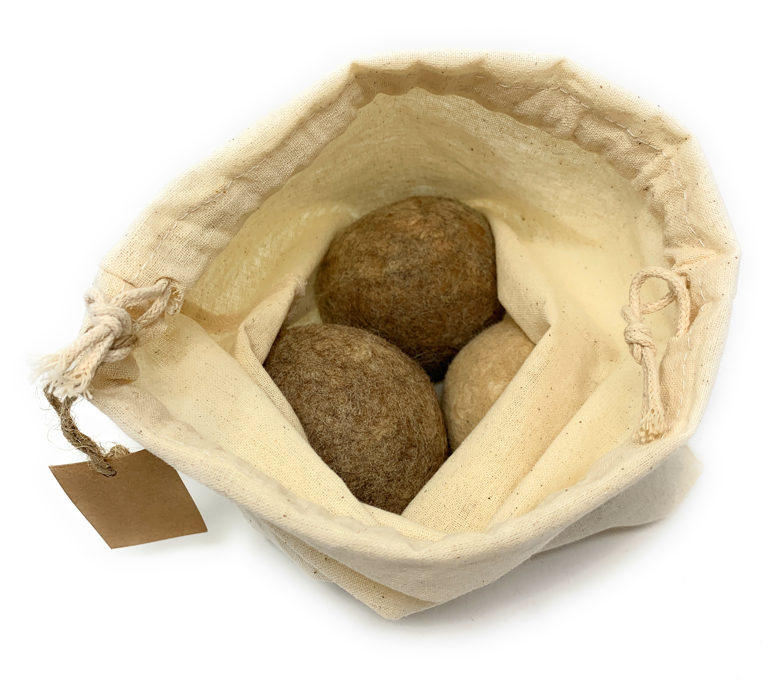 100% Alpaca Wool Dryer Balls - Bagged