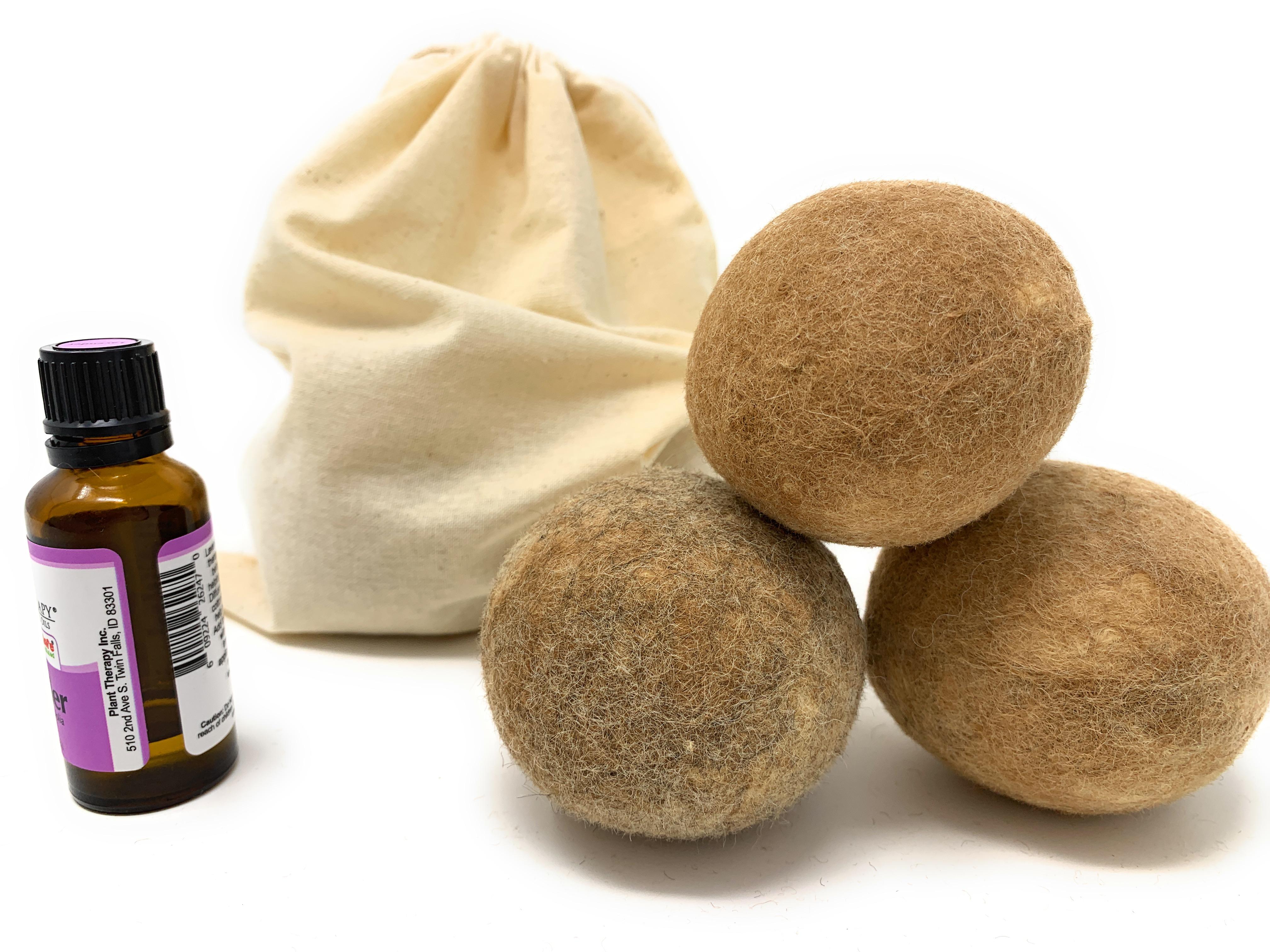 100% Alpaca Wool Dryer Balls - Scent Idea