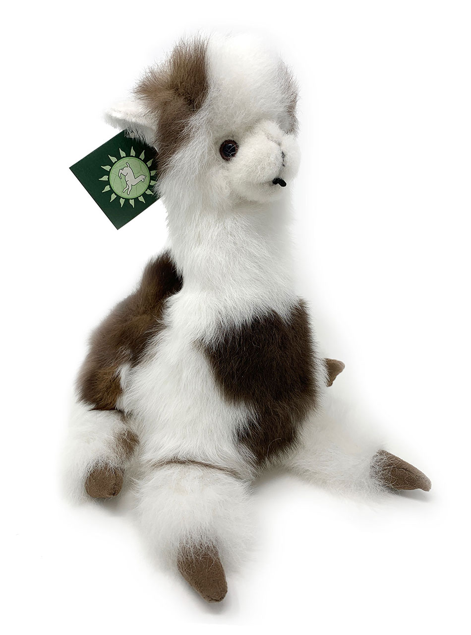 12 inch Sitting Huacaya Alpaca Plush Toy Multi