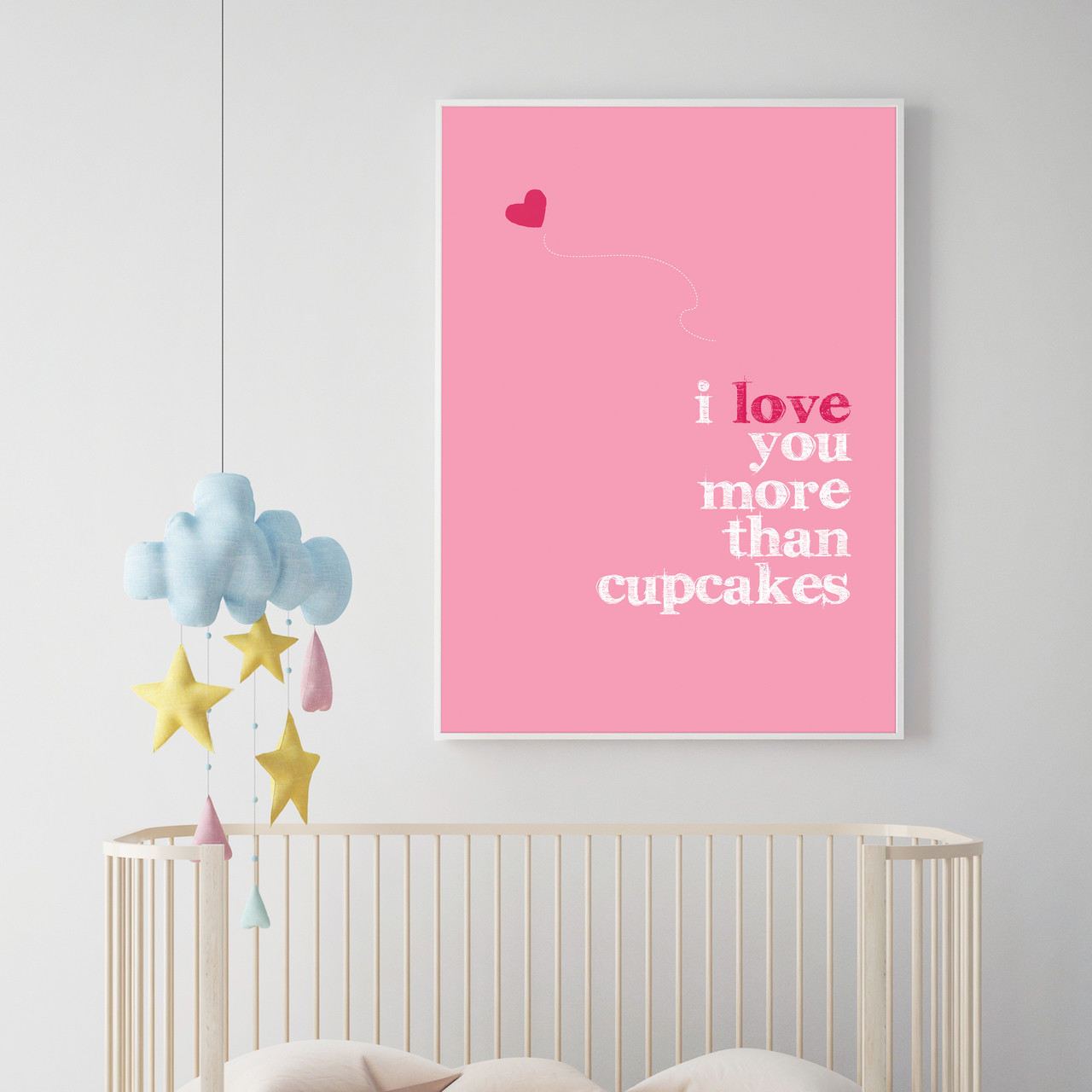 I Love You More Than Cupcakes Almond Tree Designs Wall Art Gifts