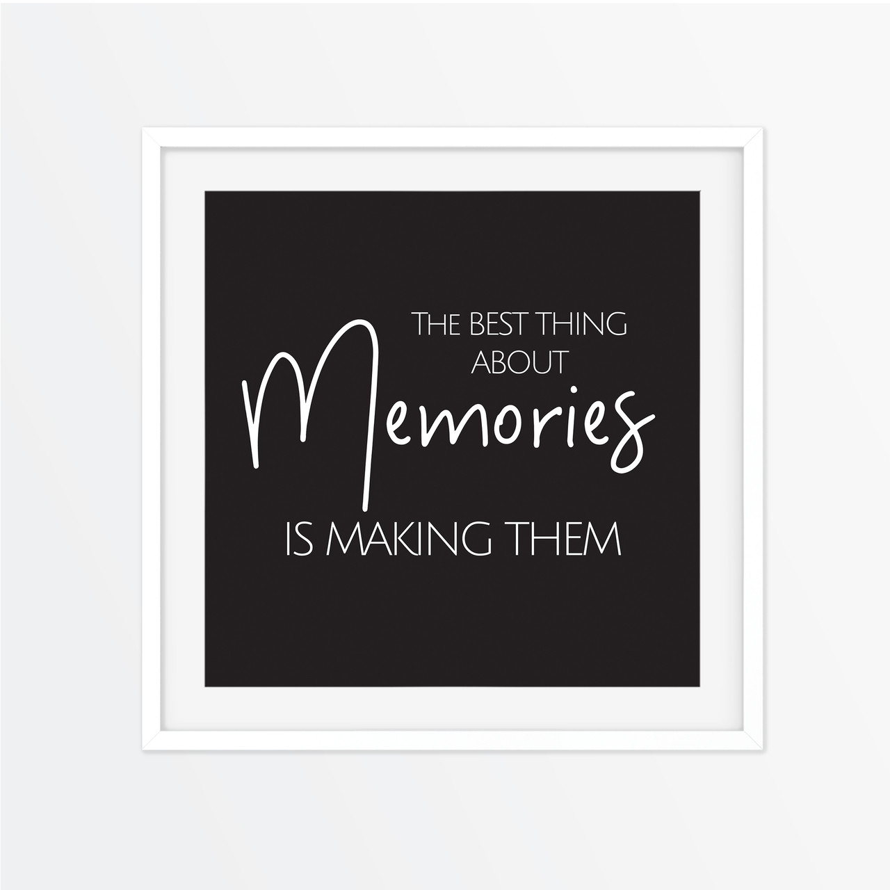 the best things about memories instagram square print almond