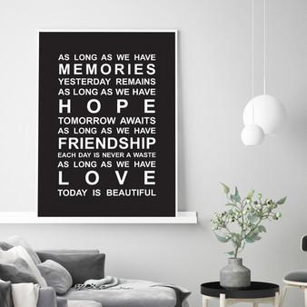 Memories Print in Black