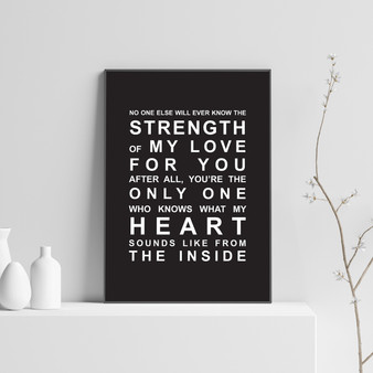 Strength of My Love Print in Black