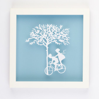 Dinking Vintage Kids Paper Art Frame in Blue