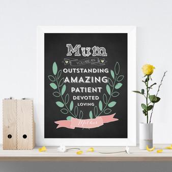 Mum You are Amazing Chalkboard Print
