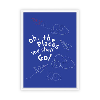 Dr Seuss - Adventures Print with optional Australian-made white timber frame