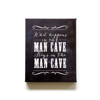 Man cave chalkboard canvas