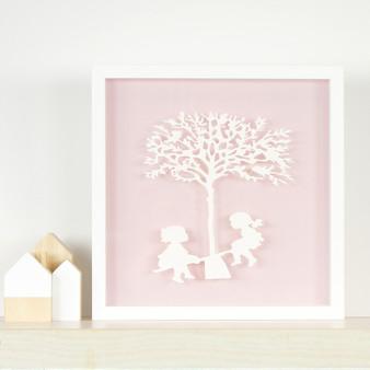 Vintage Kids - see saw in pink