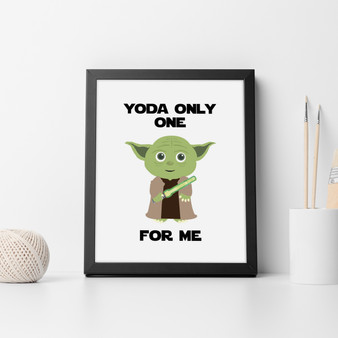 Star Wars Yoda Print with optional Australian-made black timber frame