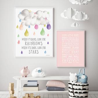 When it Rains Look for Rainbows Instant Digital Downloadable Print