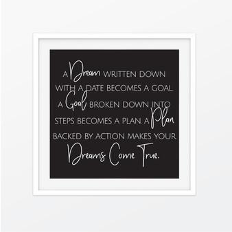 A Dream Written Down Instagram Square | Print