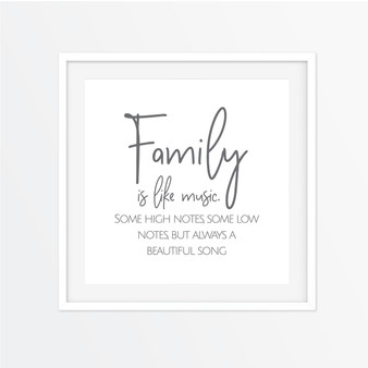 Family is Like Music Instagram Square | Print