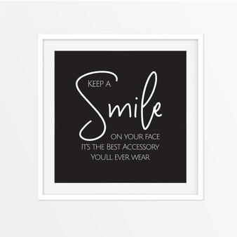 Keep a Smile on Your Face Instagram Square | Print