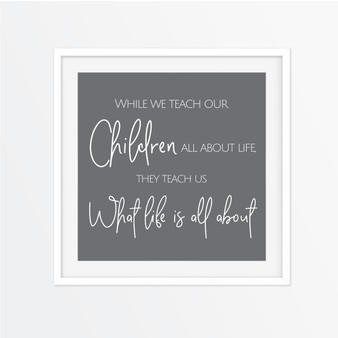 While We Teach our Children Instagram Square | Print