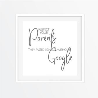 Respect Your Parents Instagram Square | Print