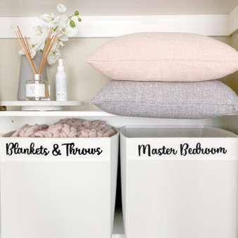 Custom - Large Home Organisation Labels in Pretty Font