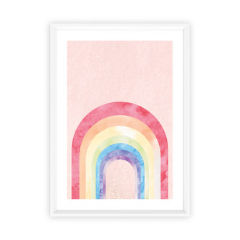 Rainbow Blush - Abstract Watercolour Wall Art Print