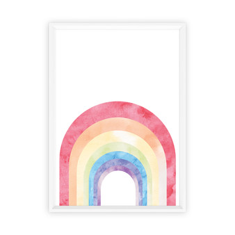 Watercolour Rainbow - Abstract  Wall Art Print