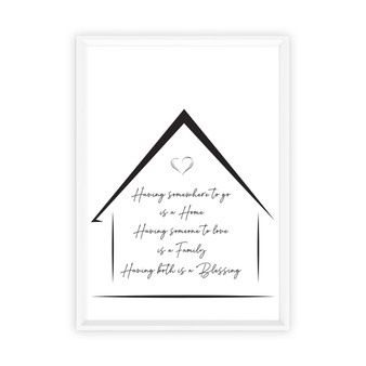 Home and Family Blessings - Free Digital Print