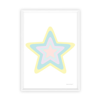 Rainbow Star (Pastel Yellow) - Instant Digital Downloadable Print