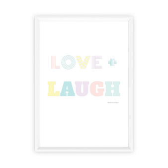 Love + Laugh - Instant Digital Download Print