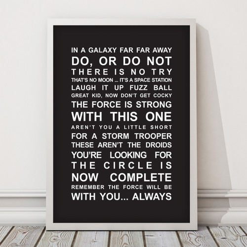 993c832afc5 ... Star Wars Movie Quotes Print in Black