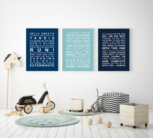 6b1736adbd2 ... Harry Potter Movie Quotes Print in Duck Egg