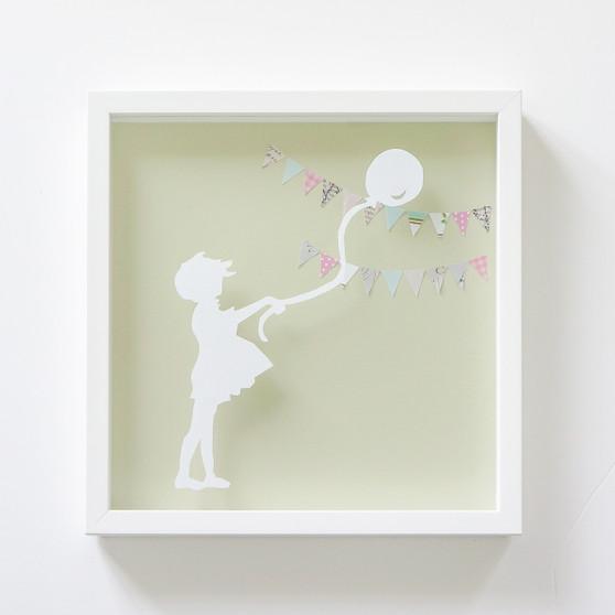 Balloon Girl Paper Cut
