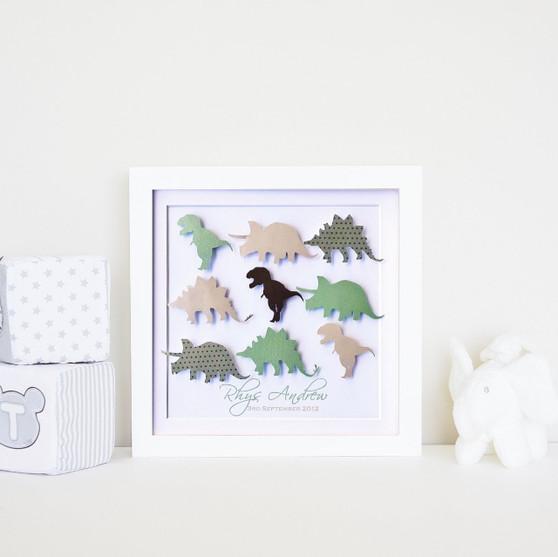 Small dinosaur frame in safari