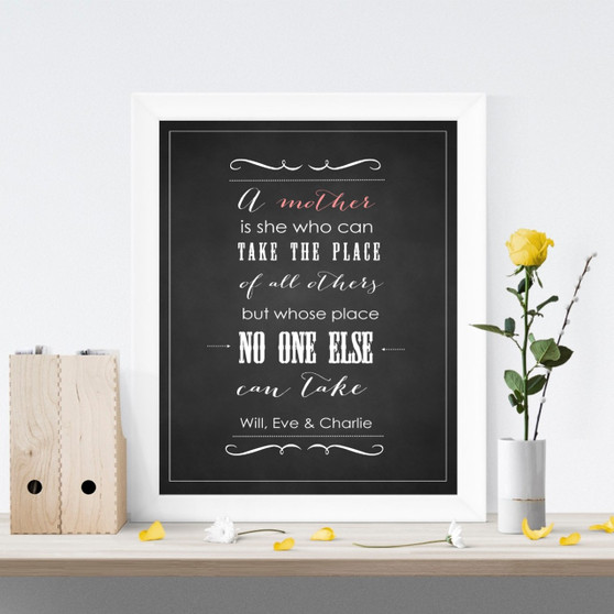 A Mother's Place Chalkboard Print