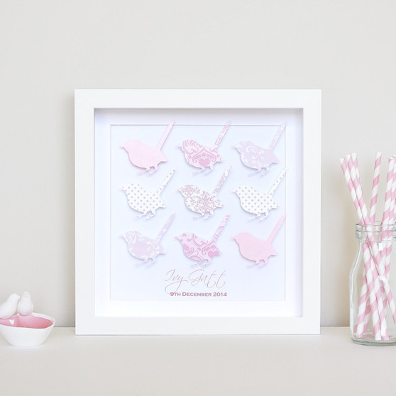 Small Wise Bird Grid in Pink