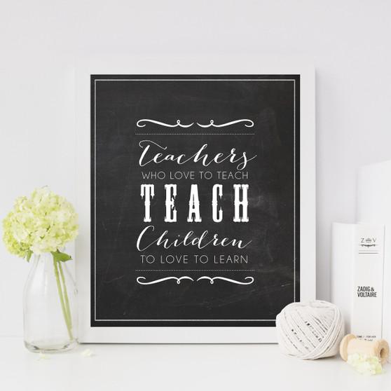 Teachers who love to teach print, with optional Australian made white timber frame