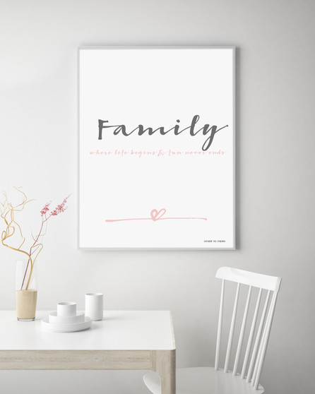 Family Instant Digital Downloadable Print