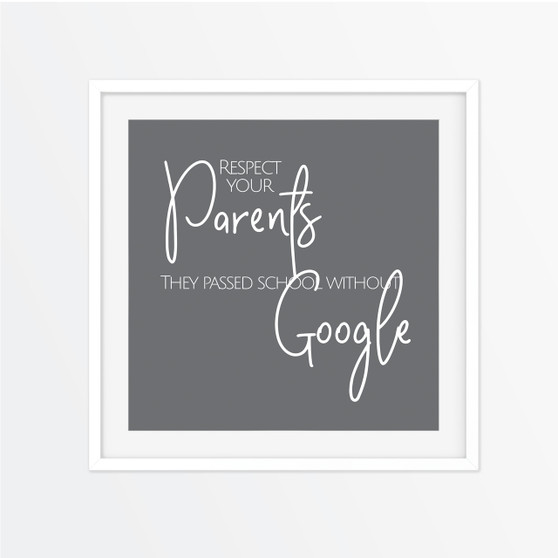 Respect Your Parents Instagram Square | Print