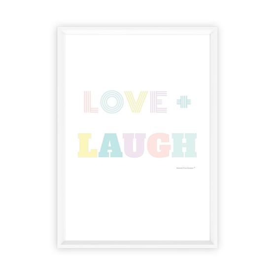 Love + Laugh - Instant Digital Download Print