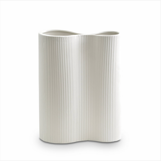 Marmoset Found - Ribbed Infinity Vase Snow (M)