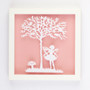 Fairy Vintage Kids Paper Art Frame in Pink